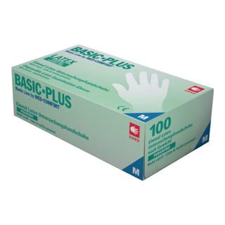 Industrial Quality Supplies Latexhandschuhe Basic-Plus puderfrei 100 Stk. Box transparent