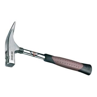 Picard Latthammer 698, mit Stahlrohrstiel, Kopfsicherung, magnetischem Nagelhalter