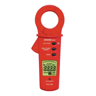 Leckstromzange Messb. 0,001 mA-100 A Wechselstrom m. Batteiren/Tasche CM 9