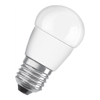 LED-Leuchtmittel 6W E27 Fassung 230-240V 470Lm Tropfenf.matt nicht dimmbar
