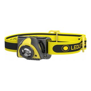 Ledlenser iSEO5R Leichte wiederaufladbare Profi-Stirnlampe mit Transportsicherung