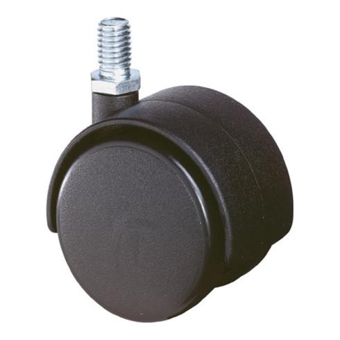 Lenkrolle D. 50mm Tragkraft 50kg Polyamidrad f. weiche Böden Einschlaghülse