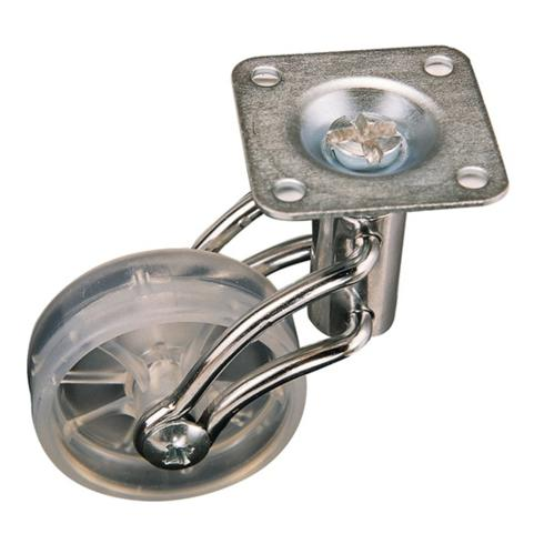 Lenkrolle Durchmesser 50mm Tragkraft 50kg Polyamidrad transparent
