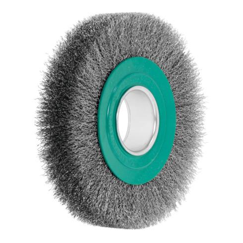 Lessmann Draht-Rundbürste (grün) INOX-Draht 0,30 mm, Bürsten-⌀xBesatzbreite: 178X23 mm