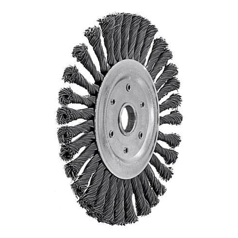 Lessmann Rundbürste Stahldraht 0,50 mm, Bürsten-⌀xBohrungs-⌀ / Gewinde: 115X22 mm