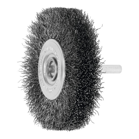 Lessmann Schaft-Rundbürste Stahldraht 0,30 mm, Bürsten-⌀xBesatzbreite: 80X18 mm