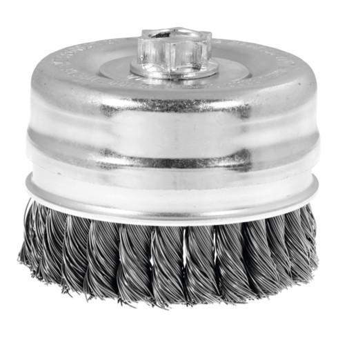 Lessmann Topfbürste Stahldraht 0,50 mm, Bürsten-⌀xGewinde: 80XM14 mm