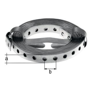 Lochband 20x12mm/L=10m Stahl roh sendzimirverzinkt GAH