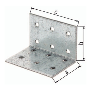 Alberts Lochplattenwinkel ETA-08/0165 80x80x80mm Stahl roh sendzimirverzinkt GAH