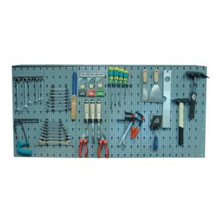 Lochwand 135x62x2cm, 6 Lochplatten, 22 Werkzeughalter