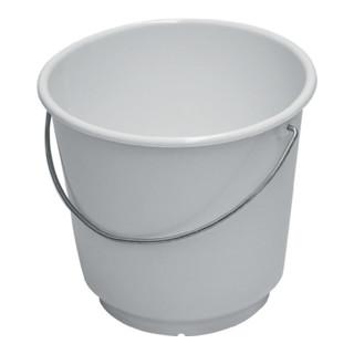 Lockweiler Eimer 10l mit Maßeinteilung, weiß, lebensmittelecht, Polyethylen, Metallbügel