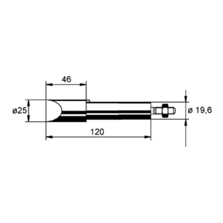 Lötspitze meißelförmig B.25mm vernickel f.Art.Nr.872380 ERSA