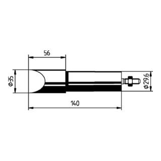 Lötspitze meißelförmig B.35mm vernickelt f.Art.Nr.872380 ERSA