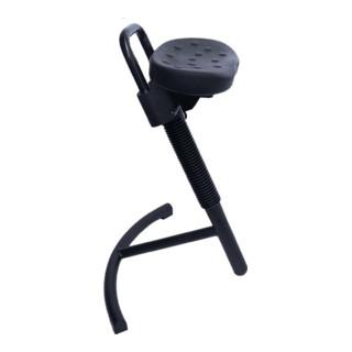 Lotz Stehhilfe Gestell und Sitz schwarz ,Gasfeder-Höhenverstellung