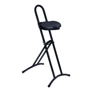 Lotz Stehhilfe Gestell und Sitz schwarz, Raster-Höhenverstellung