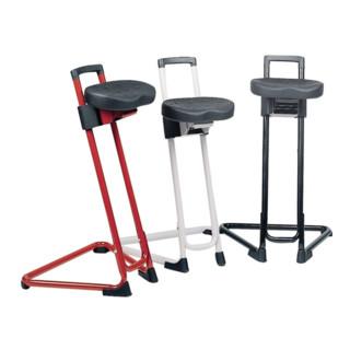 Lotz Stehhilfe schwarz, Sitzfläche aus Integralschaum, H.600-850mm