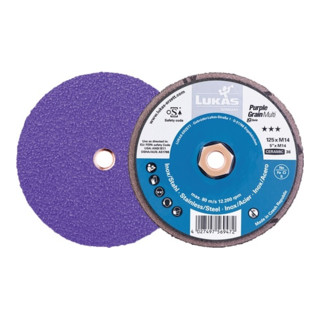 LUKAS Kompaktschleifteller Purple Grain Multi D125mm K.36 ger.CO M14