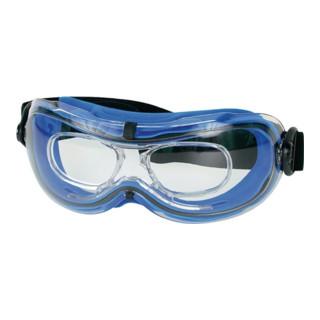 Lunettes de protect. à vision intégrale Daytona EN 166-BT monture bleue, verres