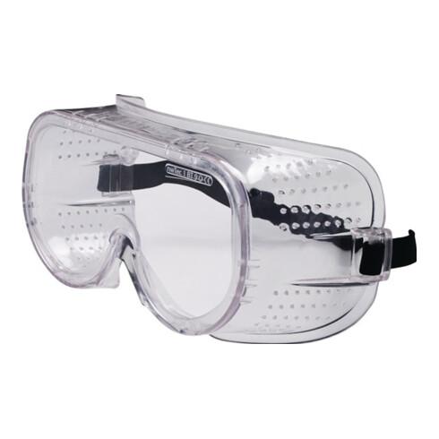 Lunettes de protect. à vision intégrale EN 166 verre en plastique transparent pl