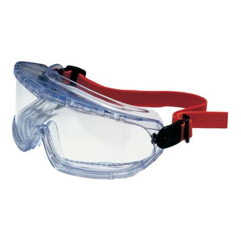 Lunettes de protect. à vision intégrale V-MAXX EN 166 monture bleue, verres tran