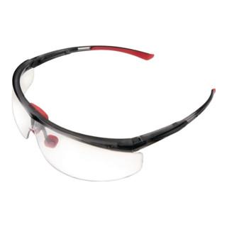 Lunettes de protection Adaptec EN 166-1FT branche noir/rouge, verres transparent