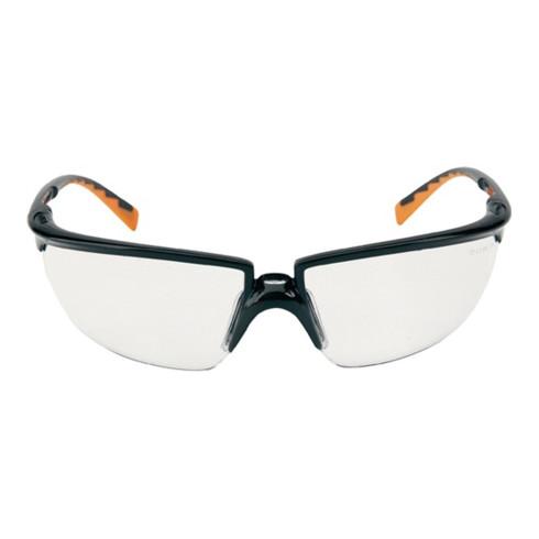 Lunettes de protection SOLUS EN 166 étrier noir/orange, verre clair PC 3M