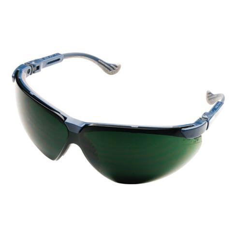 Lunettes de soudeur XC EN 166, EN 169 PC monture bleue, verre vert IR5 HONEYWELL