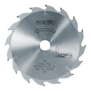 Sägeblatt-HM, 160 x 1,1/1,6 x 20 mm, Z 16, WZ