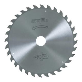 Sägeblatt HM 225 x 1,8/2,5 x 30 mm, Z 32, WZ 092460