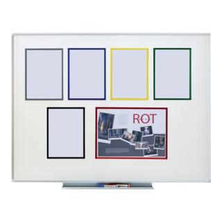 Magnet-Sichtfenster DIN A4 blau 1VE=5 Stück im Hoch-u.Querformat