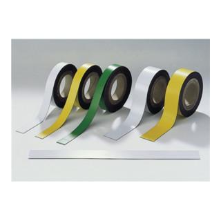 Magnetband weiß B.50mm x L.10m/RL beschriftbar z.Zuschneiden