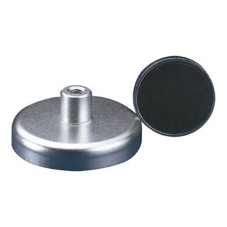 Magnetflachgreifer D.20xH.6mm m. Gewindebuchse Haftkraft 30N