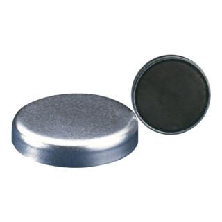 Magnetflachgreifer D.20xH.6mm o. Gewindebuchse Haftkraft 30N