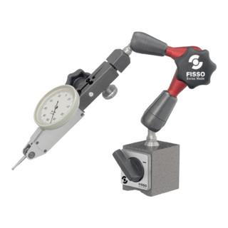 Magnetmessstativ STRATO-LINE R. 130mm Gesamt-H. 220mm Haftkraft 300 N FISSO