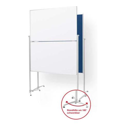 "Magnetoplan Design-Moderatorentafel ""evolution plus"" klappbar, Filz grau, 1200 x 1500 mm"