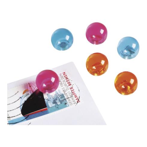 Magnetoplan Magnetkugeln, pink, D=14 mm 4 Stück