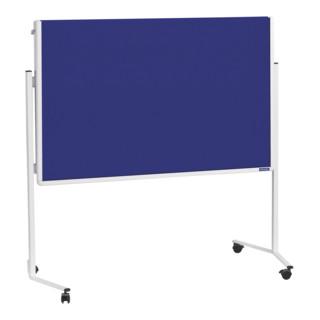 Magnetoplan Moderationstafel mit weißem Rahmen, klappbar, Filz grau, 1200 x 1500 mm