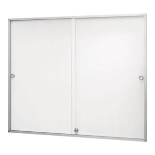 Magnetoplan Schaukasten de luxe mit Schiebetüren für den Innenbereich, 898 x 938 x 30 mm, 3 x 4 A4 30 mm