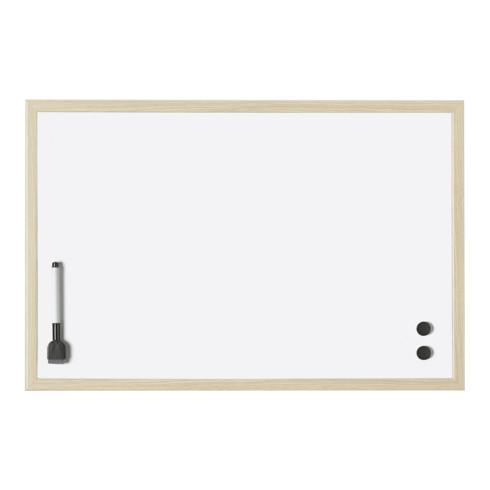 Magnetoplan Whiteboard mit Holz-Rahmen, 800 x 600 mm