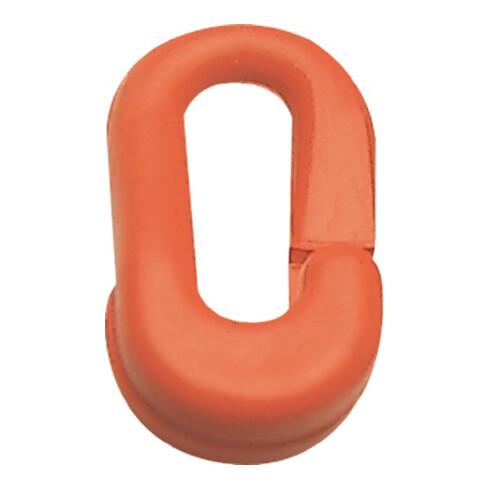 Maillon temporaire plastique rouge 6 mm pour chaînes de signalisation