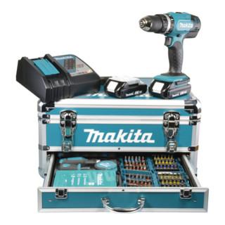 Makita Akku-Schlagbohrschrauber 18 V/3,0 Ah im Alukoffer inkl. 96-tlg. Zubehörset DHP453RFX2