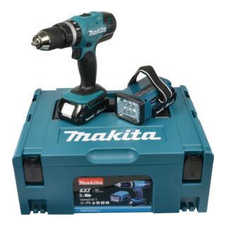 Makita Akku-Schlagbohrschrauber 18V inkl. Akku-Lampe DHP453RYLJ