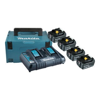 Makita Power Source Kit 197626-8, 4 x 5,0 Ah, mit Doppelladegerät