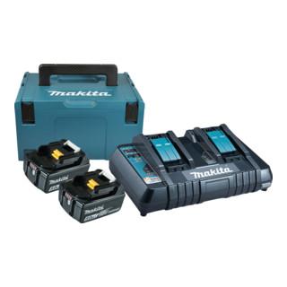 Makita Power-Source Kit 2x 5,0 Ah 197629-2 mit Doppelladegerät