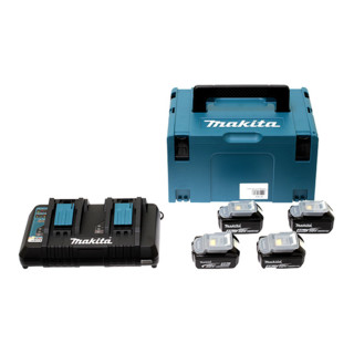 Makita Power-Source Kit 4x 4,0 Ah 197503-4 mit Doppelladegerät