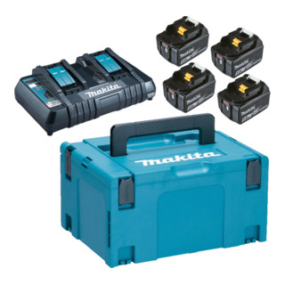 Makita Power Source Kit 4x 5,0 Ah 197626-8 mit Doppelladegerät