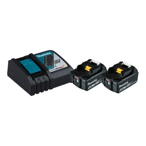 Makita Power Source Kit Li 18V 2x 4Ah Akkus + Schnellladegerät