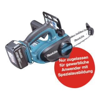 Makita Top Handle Akku-Kettensäge DUC122RTE