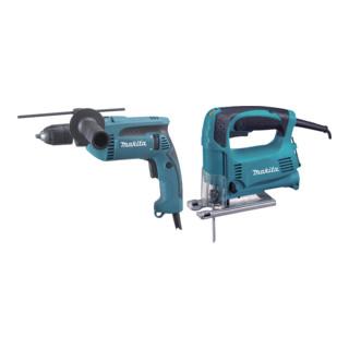 Makita Werkzeug-Set DK0074 Stichsäge + Schlagbohrmaschine
