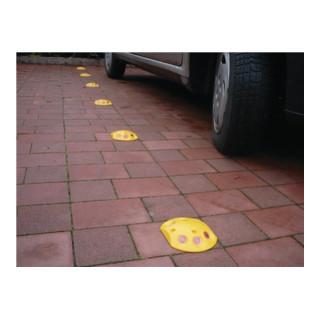 Markierungsknopf PP gelb inkl. Drehstiftnägel B120xK140xH25mm